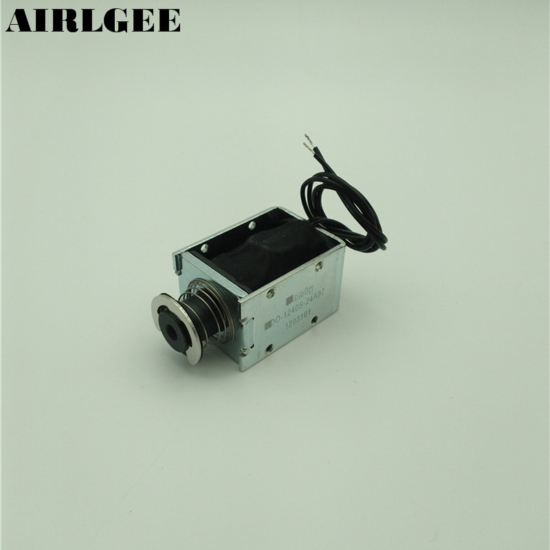 High quality DC 24V 3.42A 10mm 1200g Push Pull Type Spring Plunger Solenoid Electromagnet Free shipping dhl ems dias automation 64 245001 rev a multifunctional board a1