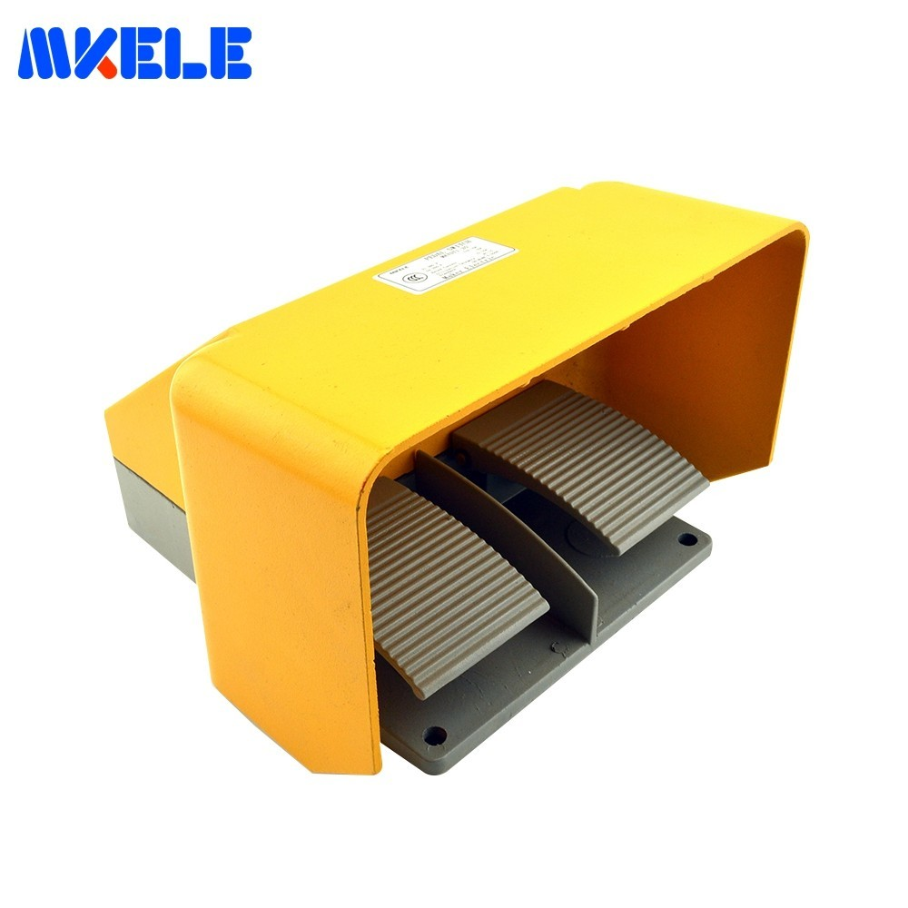 Hot Sale Universal 15A Cheap Aluminium Alloy CE Certificate Twin Double Dual Foot Pedal Switch With