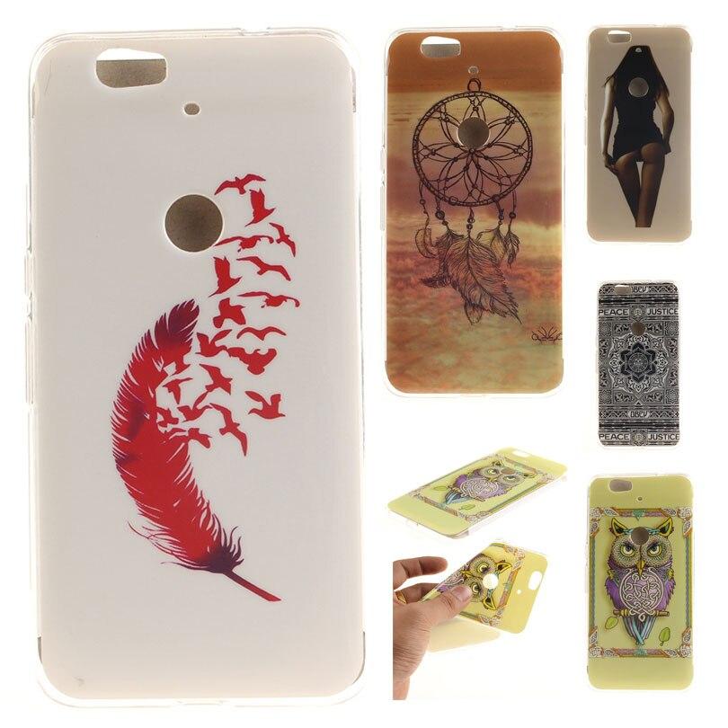 Case for Huawei NEXUS 6P 6 P painted owl Cute animals TPU phone cases for fundas Huawei Google Nexus 6P 6 P P6 H1511 H1512 Cover