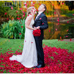 Image 5 - A. 1000Pcs Wholesale Wedding Rose Petals Decorations Flowers Polyester Wedding Rose New Fashion 6D