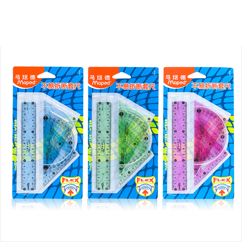 Maped  Is Not Easy To Break A Ruler Triangle Ruler Protractor Students Drawing Stationery Set
