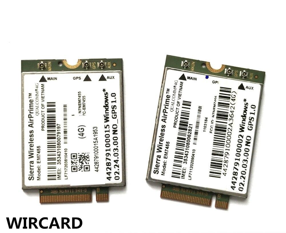 EM7455 FDD/TDD LTE Cat6 4G MODULE 4G carte pour ordinateur portable 5