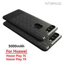 NTSPACE Battery Charger Cases For Huawei Honor Play 7C 7X Back Clip Case 5000mAh External Backup Power Bank Chargin