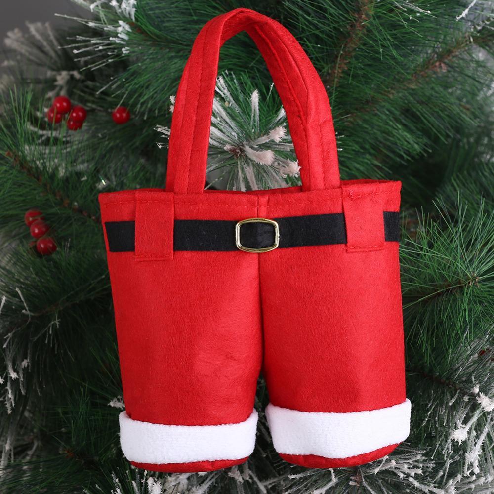 Christmas Tree Santa Pants Gift And Treat Candy Bags For Xmas Wedding Christmas Home Decoration Supplies