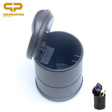 car ashtray portable black Auto Cigarette Smoke Ash  Cylinder Cup Holder with blue LED light auto accessory