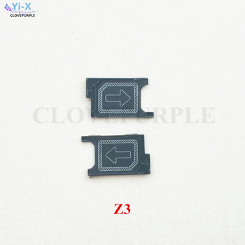 Wholesale Price 50PCS/Lot New Micro Sim Card Tray Holder Slot Adapter Replacement Parts For Sony Xperia Z3