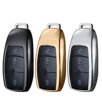 Aluminum Alloy Car Key Case Cover Fit for Mercedes Benz 2017 E Class W213 Protective Shell Car Key Case shell key chain keyring