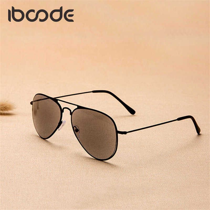 Iboode Color Lens Reading Glass Sun Glasses Classic Pilot Glasses Driving Fishing Unisex Sport Outdoor Eyewear For Elderly