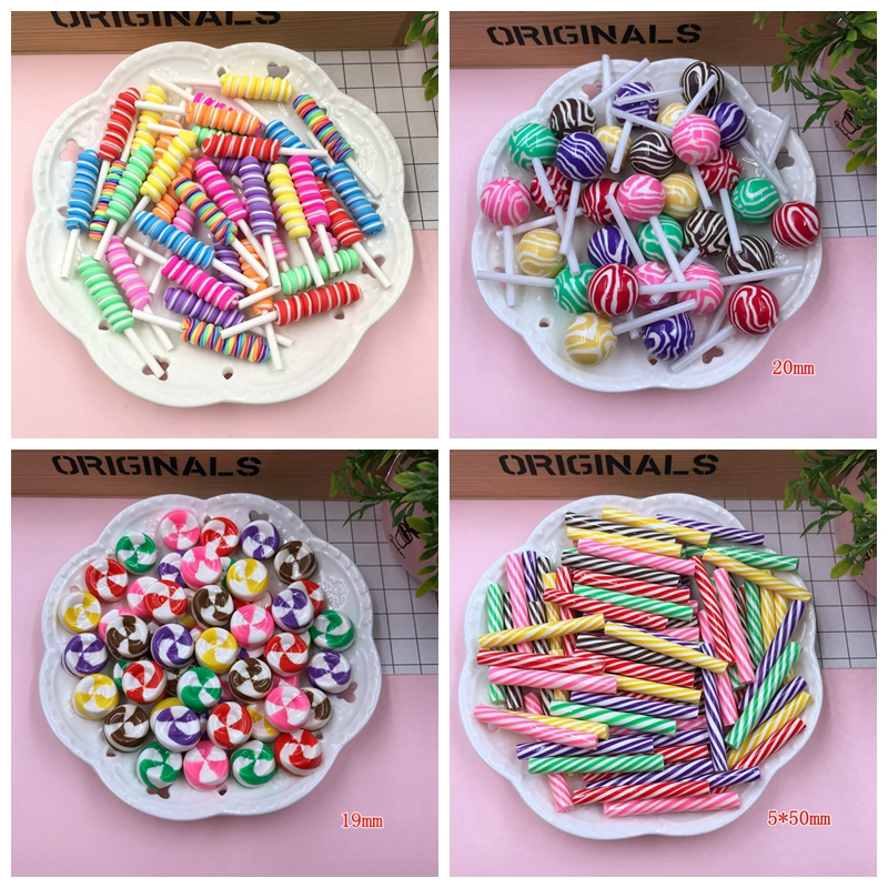 Miniature Clay Lollipop Crafts-Making Kawaii DIY Hot Round for Newest title=