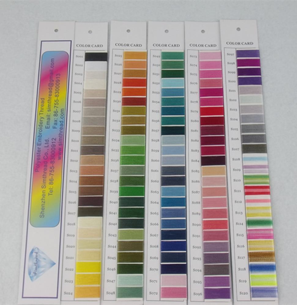 Simthread 120 Colors Computer Machine Stickgarn 100% Trilobal - Kunst, Handwerk und Nähen - Foto 6