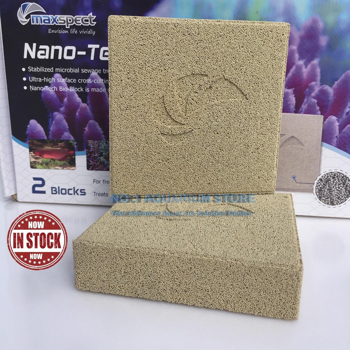 Maxspect Nano-Tech Bio-Block 2 Blocks Filter Media Aquarium Nitrate Remover For Marine And Fresh Water  (4