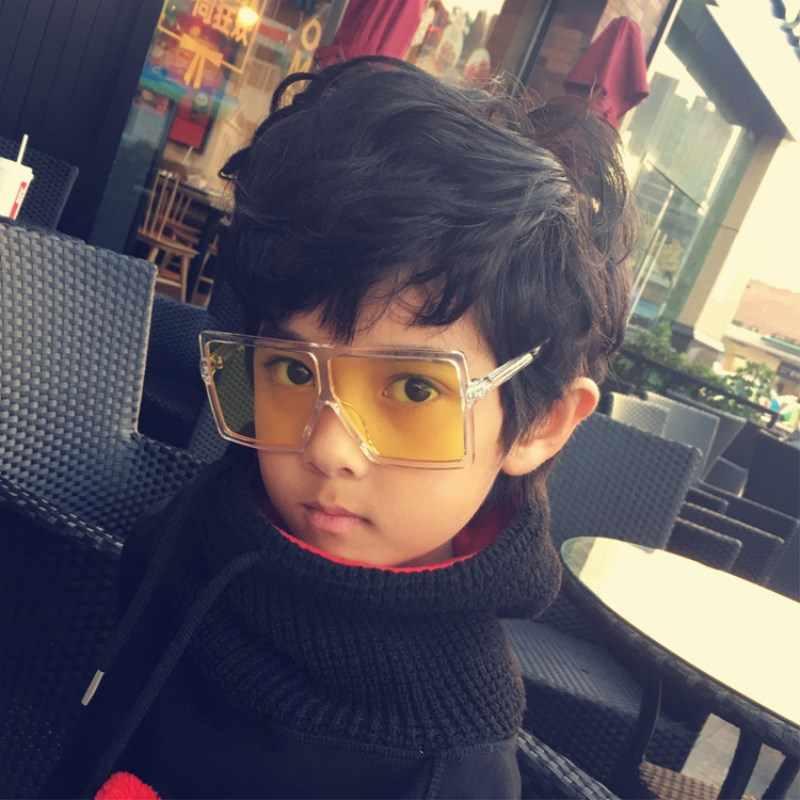 84d522b07347 Round Sunglasses Girls Kids Baby Boys Black Sunglasses Uv400 Big Glasses  Frame Children Eyeglasses Oculos De