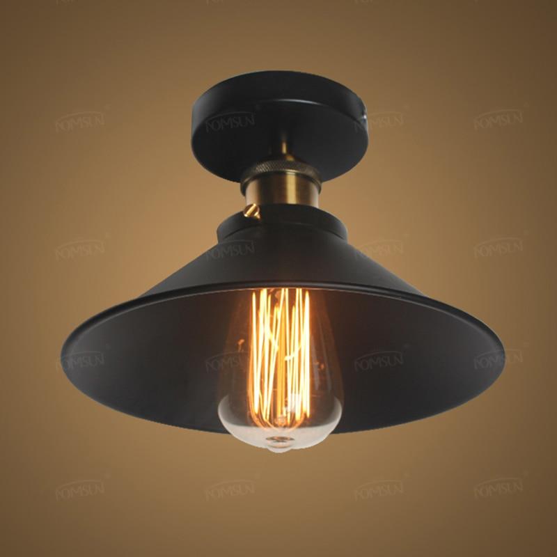 €12.3 10% de réduction|American Vintage Plafonniers lampes pour Salon  chambre luminaria de teto e27 moderne Plafond lampe Éclairage À La Maison  ...