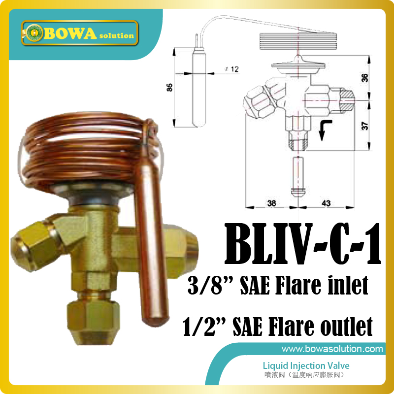 Injection valves should be installed when a compressor runs with both low suction pressure and high condensing temperature thermo operated water valves can be used in food processing equipments biomass boilers and hydraulic systems