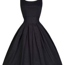 Одри Хепберн 50s рокабилли платье бальное платье Винтаж платье размера плюс o-образным вырезом без рукавов однотонная женская Туника Vestidos