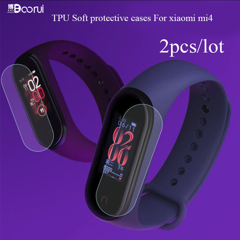 BOORUI 2PCS/lot Miband 4 Protective Cases Screen Ultrathin Anti-explosure Films  For Xiaomi NFC Mi Band 4 Smart Bracelets