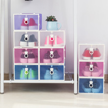 3PCS Clear Foldable Closet Eco-Friendly Transparent Plastic Rectangle PP Shoe Thickened drawer Organizer Storage Box Case