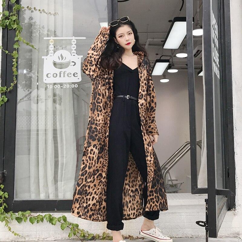 2019 Maxi Femmes Longues Léopard Pour À Streetwear Femme Haut Chemises Manches Chemisier Vintage Imprimé Blouses Longue Poches qrzHwUpIr