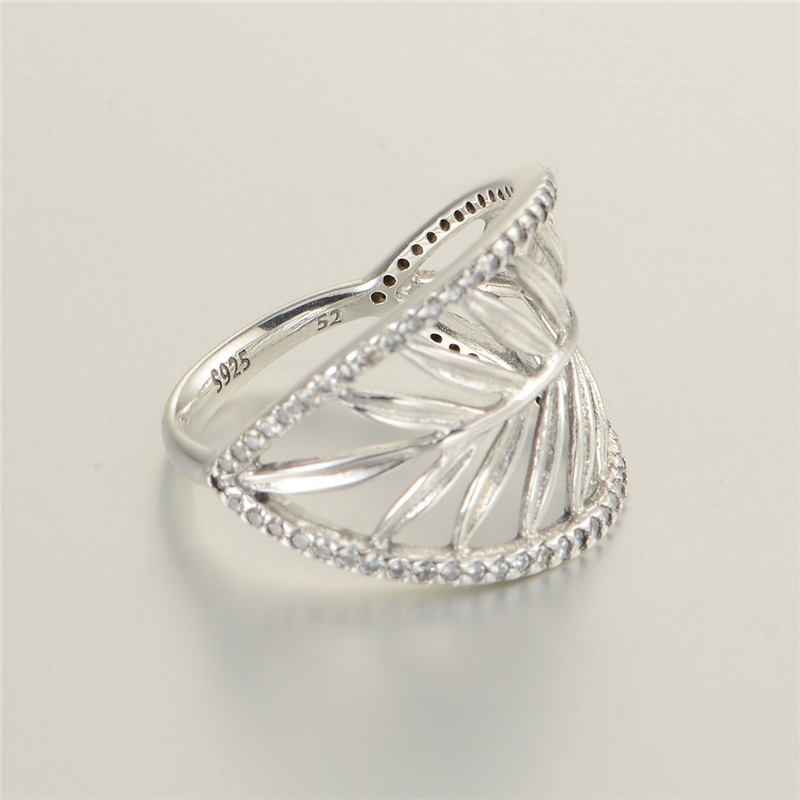 Pandora Women's 925 Sterling Silver Cubic Zirconia Crystal Ring sROWp