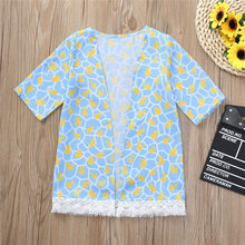 CHAMSGEND Baby Boy Girl Clothing Set High Quality Girls Flower Printing Shawl Kimono Cardigan Tops Family Outfits Clothes 2018(China)