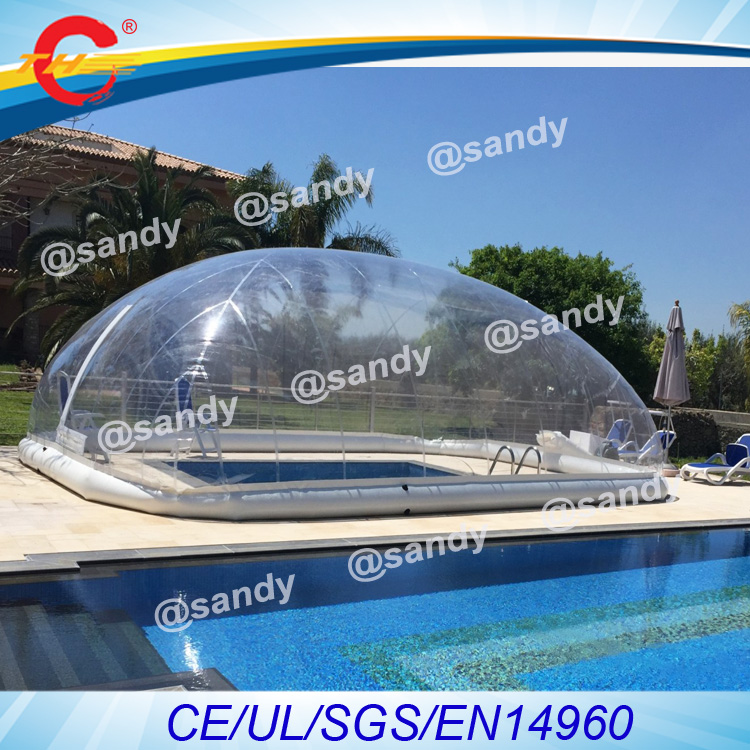 free air ship to door,plastic giant clear inflatable swim pool cover ...