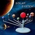 Bonito Luz Solar Sistema Solar Planetas Corpos Celestes Modelo DIY 3D modelo de Ensino de Simulação Brinquedos Eductional Os Nove Planetas