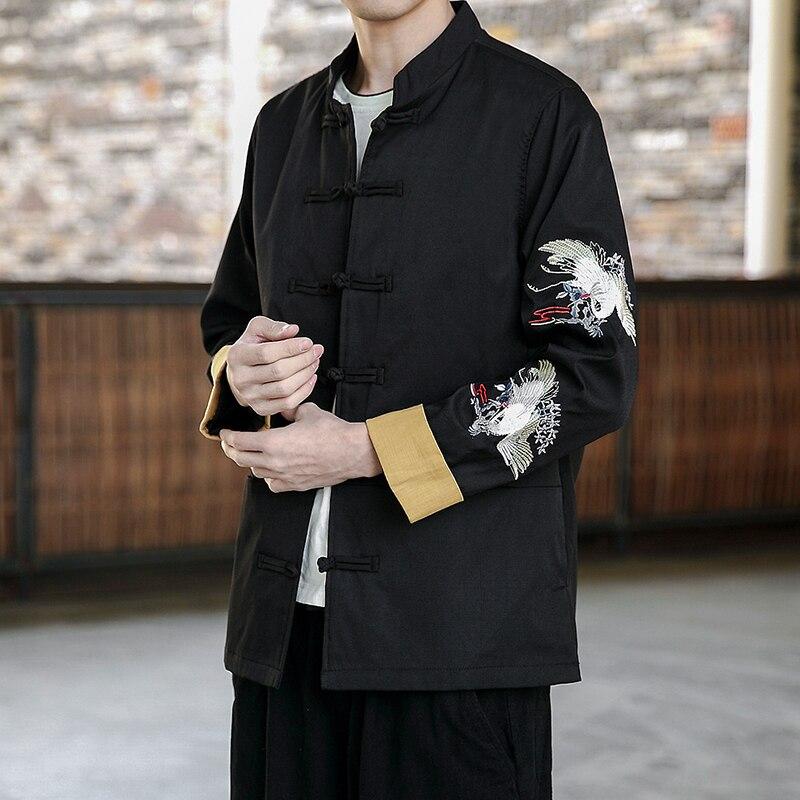 Новейшие повседневные мужские куртки китайские старинные классические мужские свободные пальто в стиле Тан Великолепная Роскошная куртка