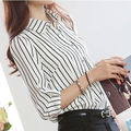 New Fashion Women's Loose Long Sleeve Chiffon Casual Blouse Shirt Tops femme girl blause