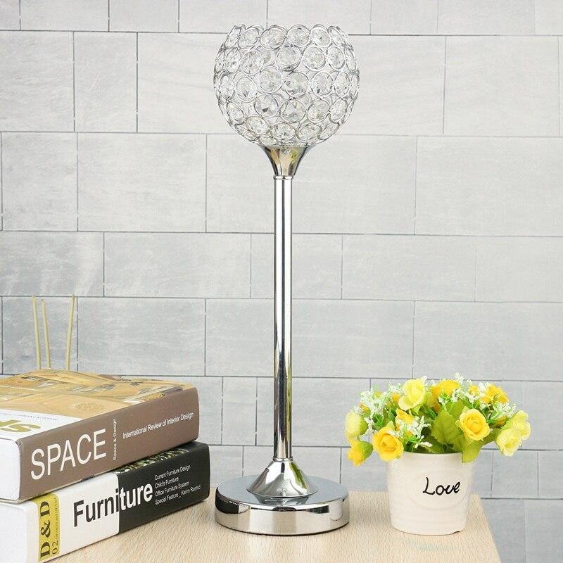 nueva cm grande de cristal titular de la vela candelita candelabro de cristal linterna candelabro