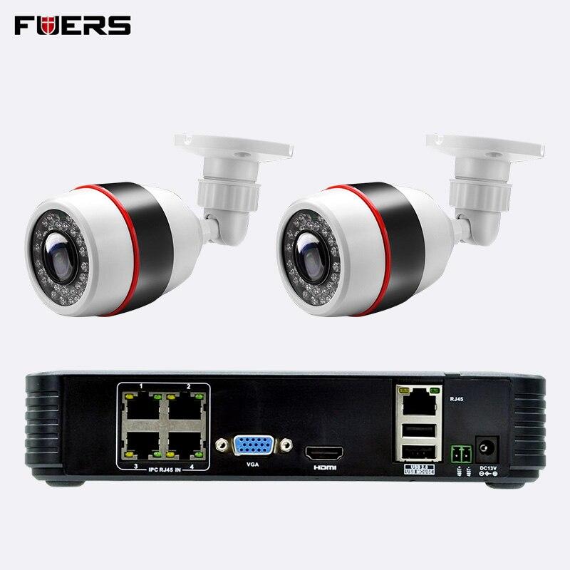 を FUERS 1080 1080p フル HD 4CH POE NVR WiFi IP カメラ NVR ビデオレコーダーキット 4 チャンネル Onvif 監視ホームセキュリティ CCTV システム  グループ上の セキュリティ & プロテクション からの 監視システム の中 1
