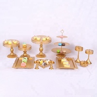 12pcs 3 tier party new design beautiful wedding cake stand or tool and tray