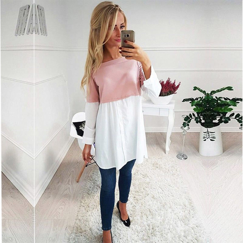 Female Maternity Tees Patchwork Big Size Clothes Tops For Pregnant Women Print Fashion Pregnancy Shirts Maternity Clothing 2019 Islamabad