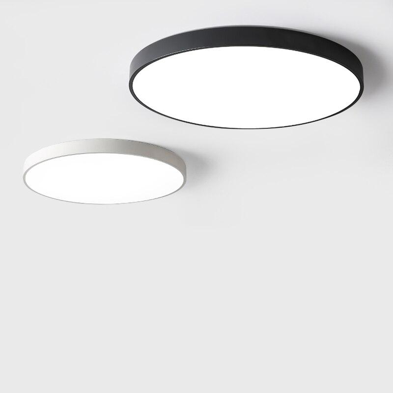 Moderno led redondo lâmpada do teto para loft foyer quarto dome casa iluminação acrílico lâmpadas luzes de controle remoto fixtur