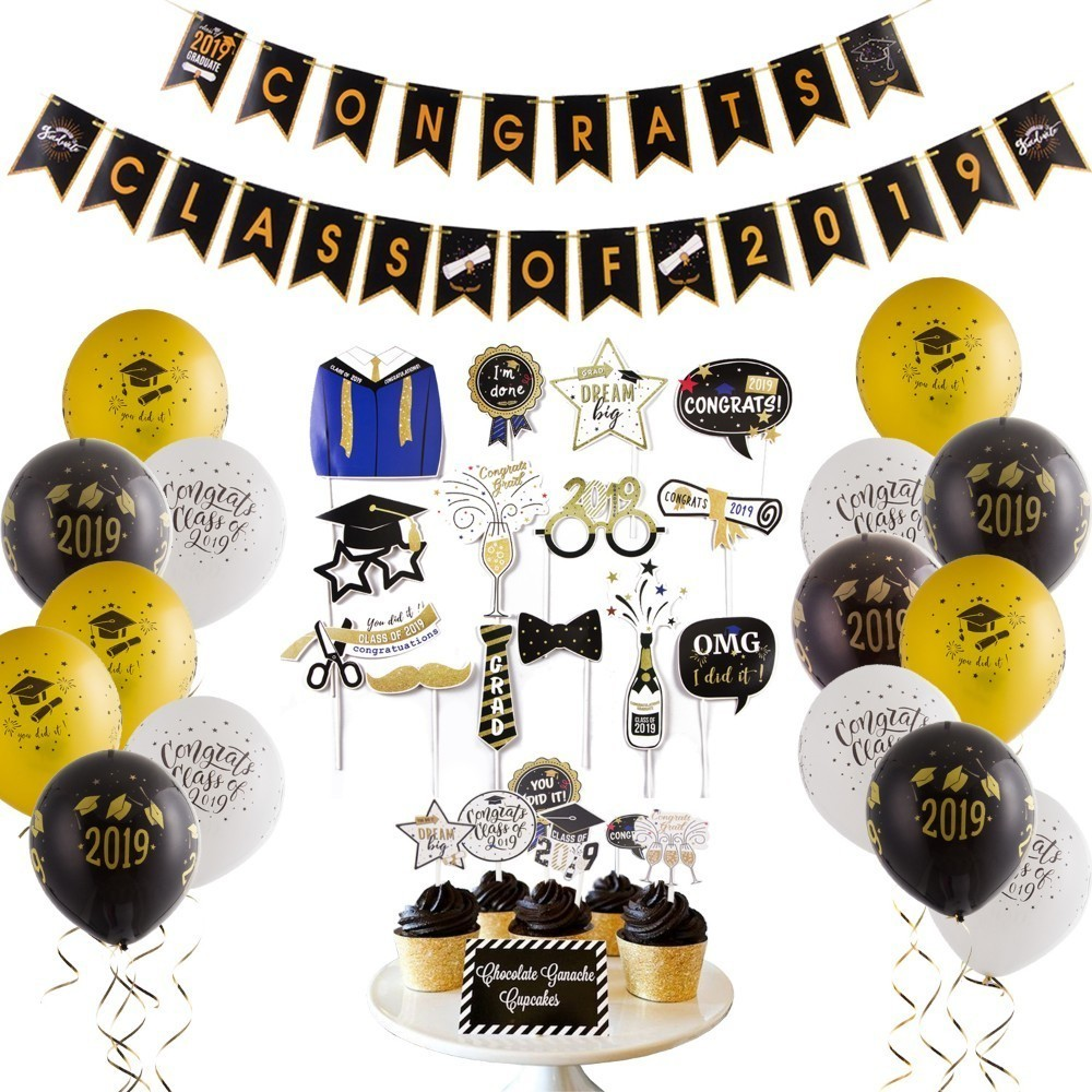 Graduation Table Centerpieces Toppers Congrats Grad Class of 2021 Party Supplies Decorations Photo Props