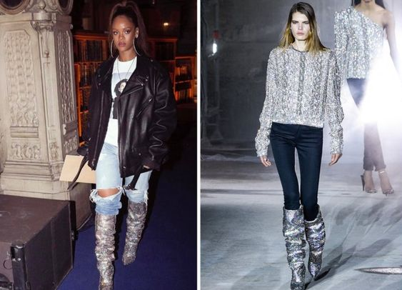 Bling As Dames Talons Femmes Sexy Chunky Strass Genou Chevalier Picture Hauts Chaussures as Picture Beertola Bottes Cristaux Femme Le Sur Piste gq4ntg