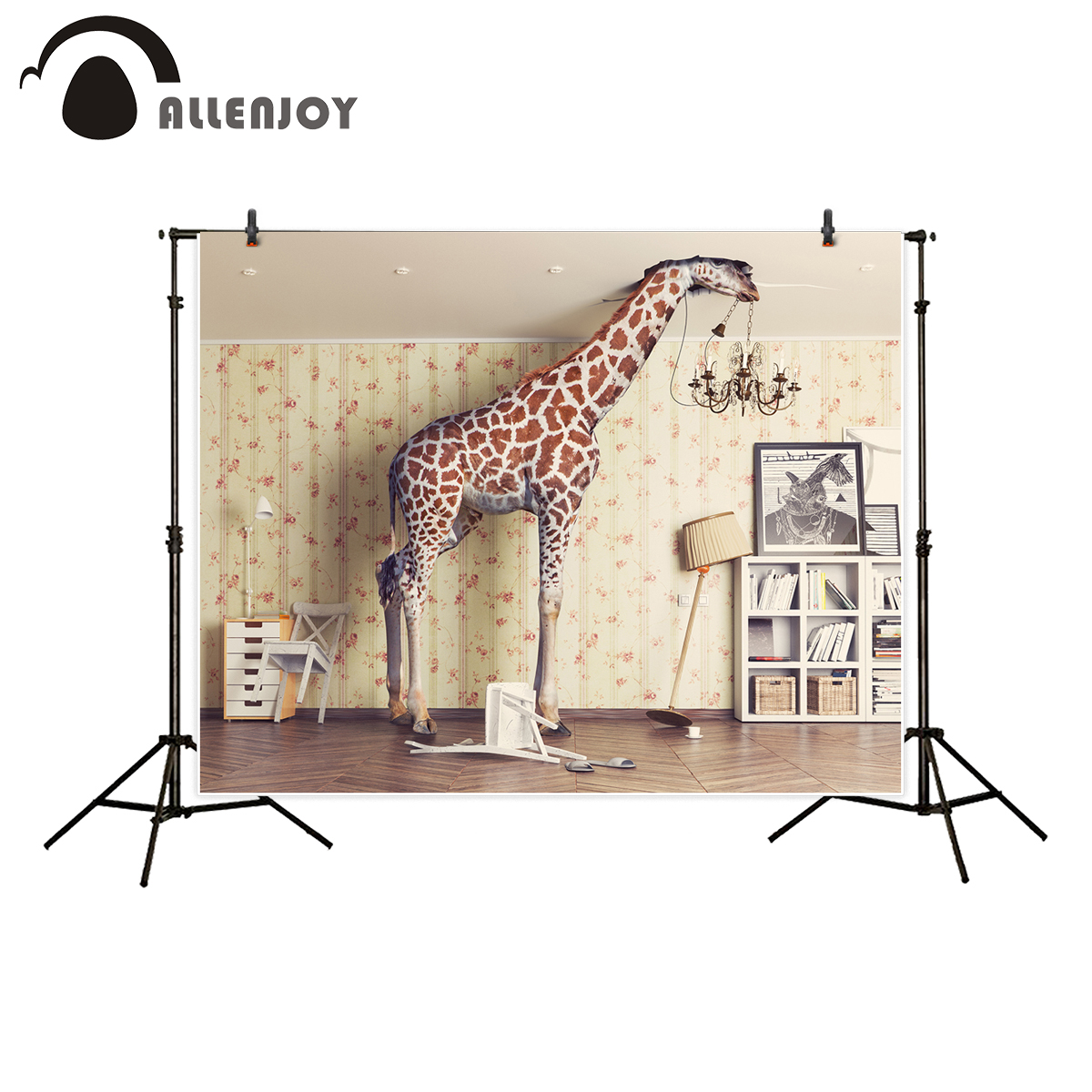 Allenjoy background for photo studio magical room giraffe child photography backdrop newborn photobooth professional allenjoy photography backdrop library books student child newborn photo studio photocall background original design