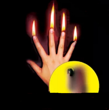 Close-up Magic Finger Fire Magic Trick Stage Magic Accessory Magia Toys Magic Prop  Wholesale 1 Set=4pcs YH256