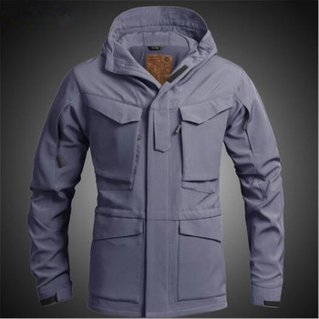 Men Winter Thick Windproof Thermal Soft Shell Tactical Jacket Outdoor Hunting Hiking Camping Waterproof Fleece Lining Tops Coat