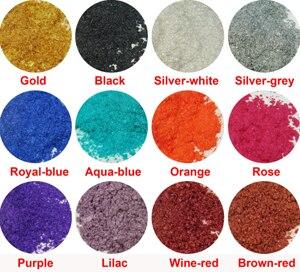 120 грамм = 12 цветов косметический устойчив к растворителям слюда, перламутровый пигмент порошок пыли для DIY лак для ногтей и макияж тени для век - Цвет: 12Colors as Picture