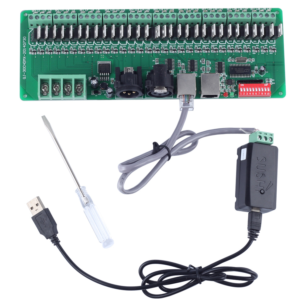 30 channels decoder easy dmx rgb led strip light controller bare 30 channels decoder easy dmx rgb led strip light controller bare board dmx512 decoder controller dimmer 12v consoleusb decoder in rgb controlers from mozeypictures Choice Image