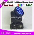 6 шт./лот  новинка  Cree Led 12x10 Вт  LED moving head light RGBW 4в1 10 Вт 12 шт.  цветной цветочный эффект  сценическое освещение