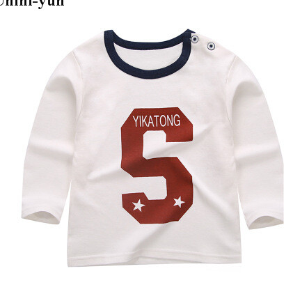 Unini-yun Autumn Spring children Tshirt kids cute Letter S Tops baby girls o-neck sweater baby cotton shirt soft Tees 3T4T5T6T24