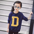 Children's Clothing Autumn Cotton Sweatshirt with Letter and Cartoon Design for Girls