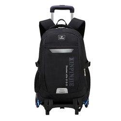 Children School Bags For Kids Boys Trolley Schoolbag Rolling Luggage Book Bags Wheeled Backpack Travel Bagpack Trolley Backpack