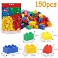 DOLLRYGA 150 piezas bloque con coche Bxod piezas de ladrillos grandes jouet enfant niños manualidades DIY bloques de construcción a granel regalo de cumpleaños color mezclado