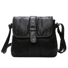 Epiphqny брендовая мягкая кожа Для женщин сумка женская сумка маленькие женские сумки черный мешок руки клапаном