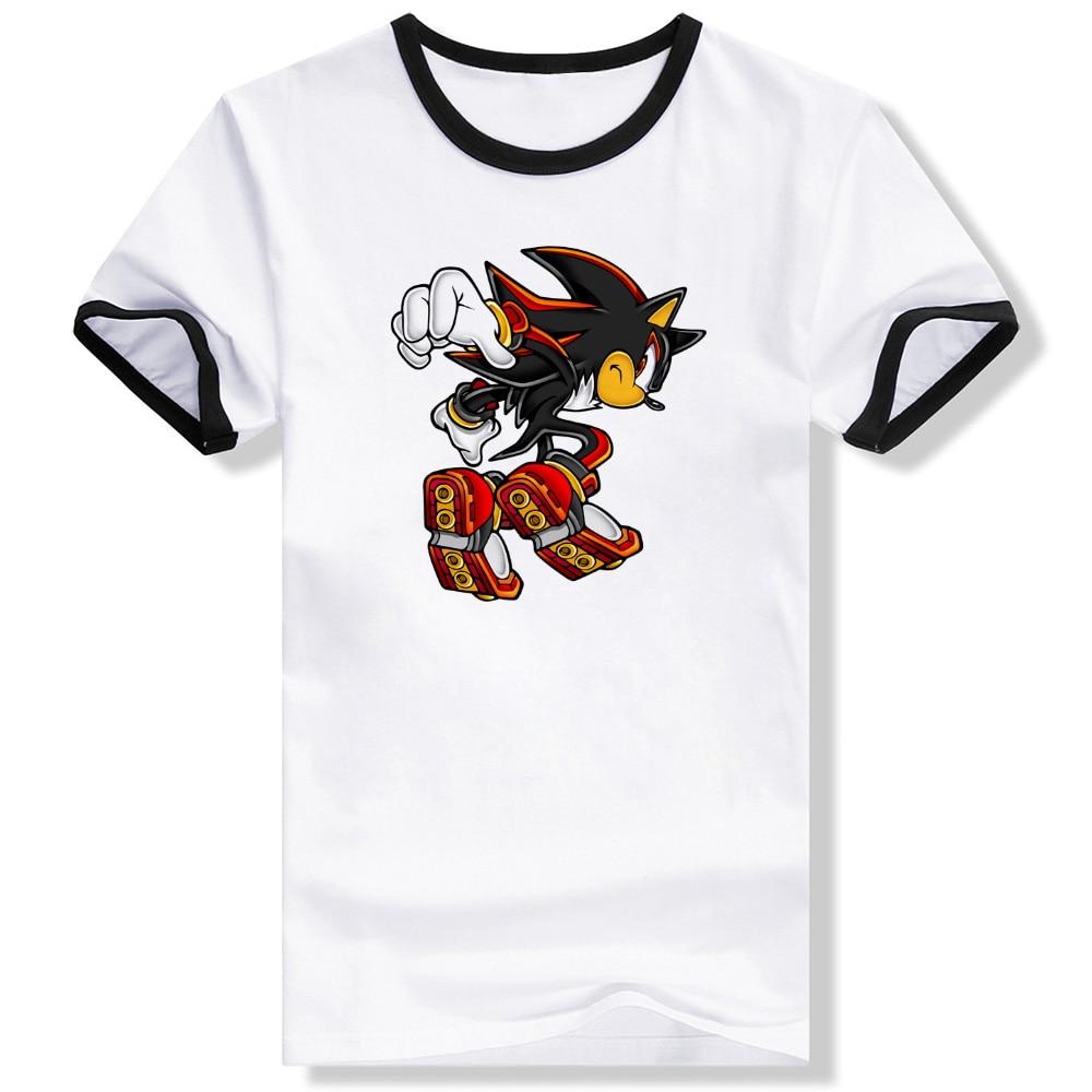 Shirt design video - Shadow The Hedgehog Punk Anime Video Game T Shirt Design Fashion Brand T Shirt Style