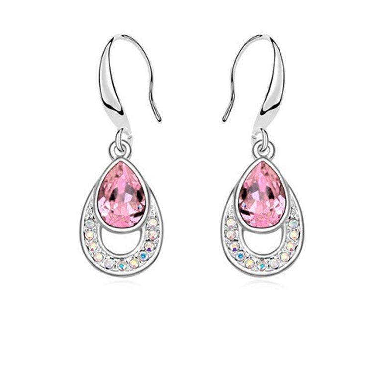 Crystal Water Drop Dangle earrings 4