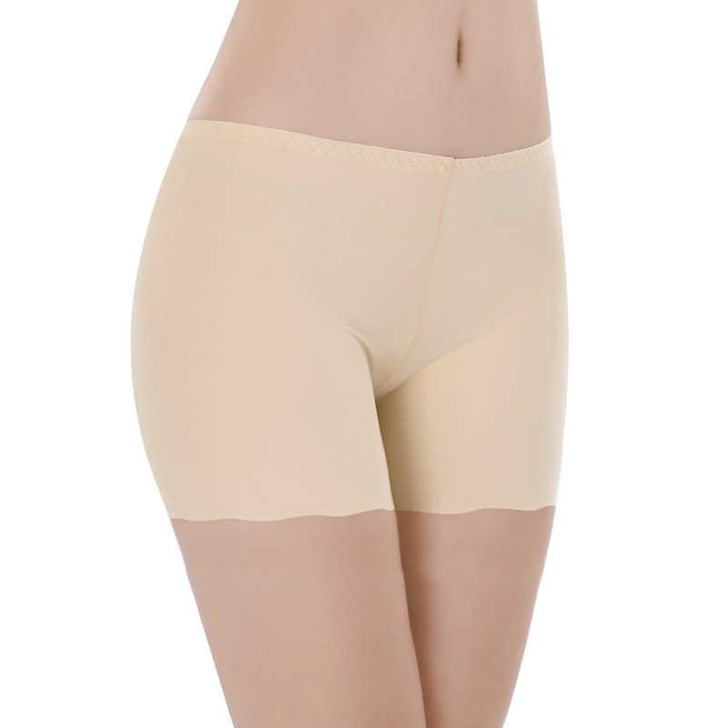 Nova Chegada de Seda Das Mulheres Calças Segurança Calças Curtas Boxer Lingerie Sem Costura Respirável Cool Design Sexy Feminino Cuecas venda Quente