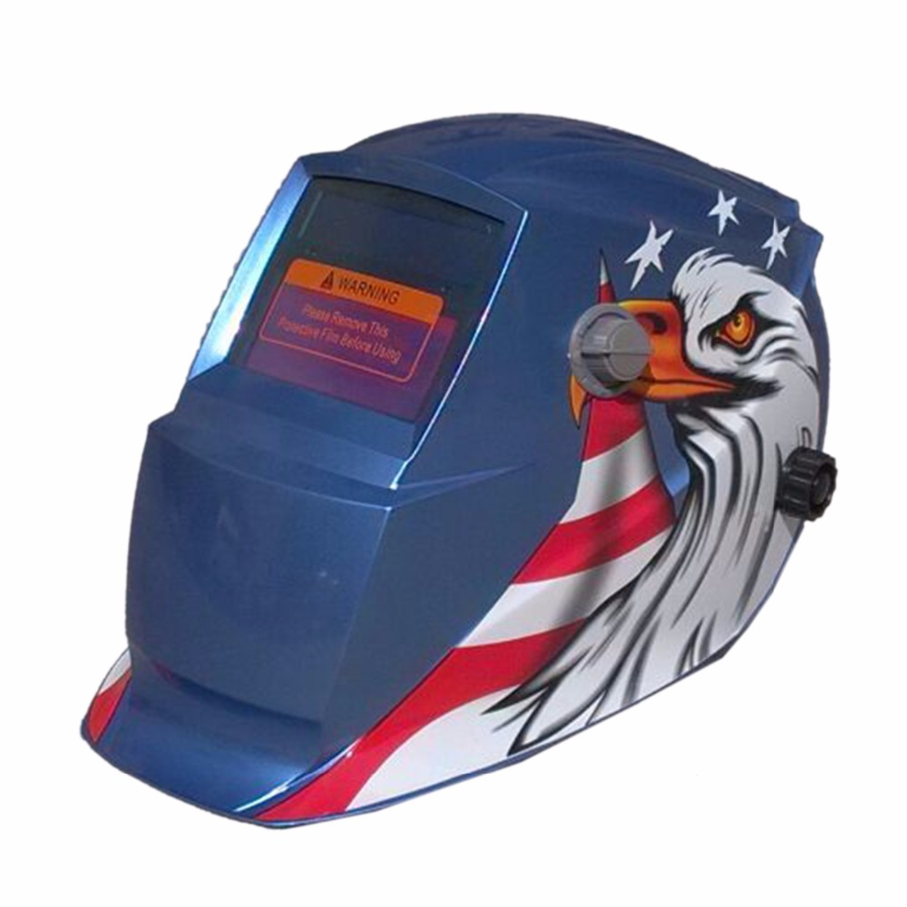 LY-SXY Blue  Solar LI Battery Auto Darkening TIG MIG MMA MAG Electric Welding Mask/Helmets/Welder Cap welder machine plasma cutter welder mask for welder machine